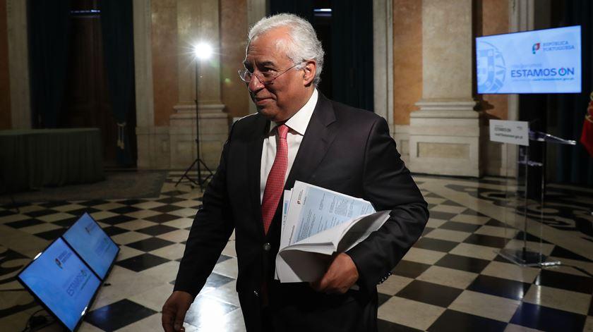António Costa anunciou esta quinta-feira o calendário do desconfinamento gradual. Foto: João Relvas/Lusa