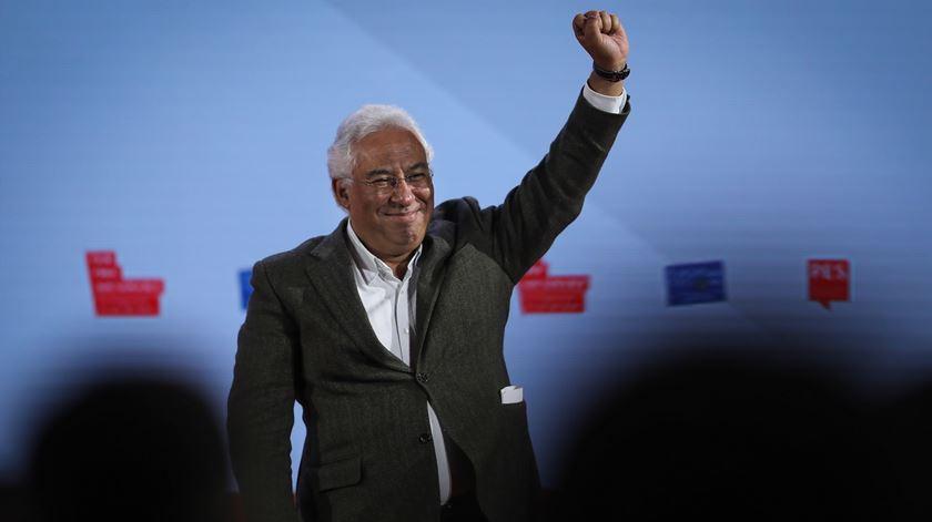 António Costa no fim do Congresso do Partido Socialista Europeu. Foto: Miguel A. Lopes/Lusa
