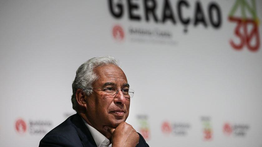 António Costa no lançamento da moção 2030. Foto: Mário Cruz/Lusa