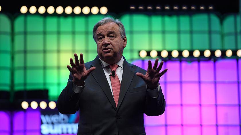 António Guterres foi uma das estrelas do primeiro dia da conferência tecnológica. Foto: Web Summit