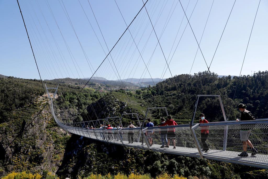 A ponte liga Canelas a Alvarenga. Foto: Estela Silva/ EPA