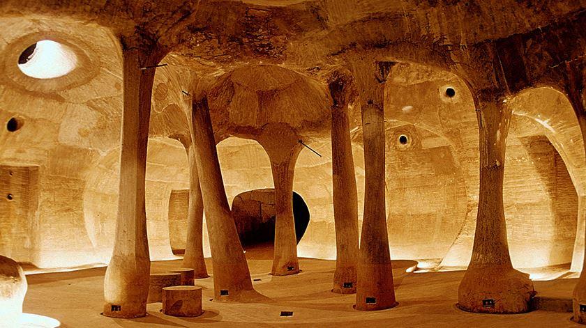 Galeria de arte Amdavad Ni Gufa, na cidade indiana de Ahmedabad. Foto: VSF