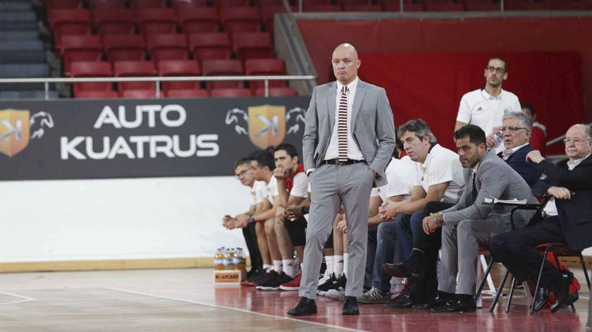 Arturo Alvarez, basquetebol. Foto: SL Benfica