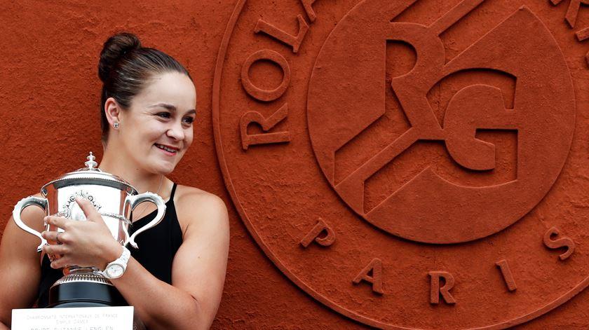 """Ashleigh Barty é a nova número um do """"ranking"""" feminino"""