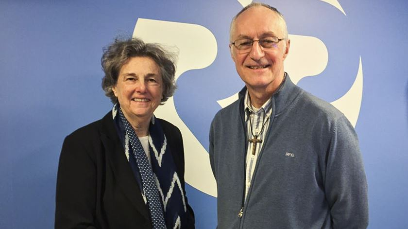 Phyllis Zagano e Padre Bernard Pottier. Foto: DR