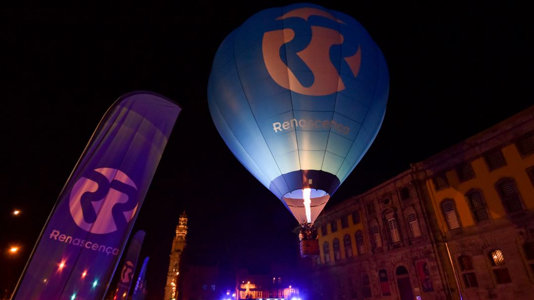 Balão de Ar Quente Renascença no Largo Amor de Perdição, Porto Foto: Paulo Aragão