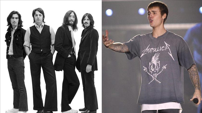 Jovens reconhecem mais facilmente músicas dos Beatles do que de Justin Bieber