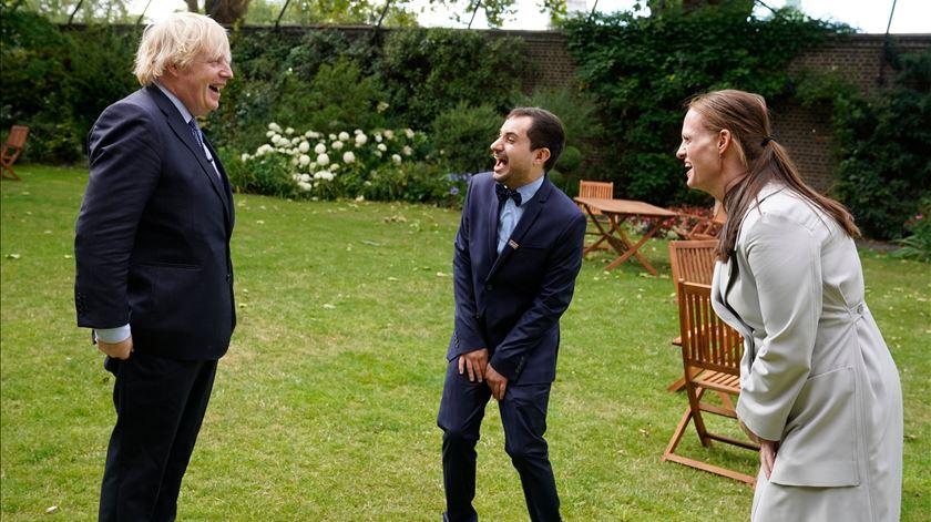 Boris recebeu Luís, o enfermeiro português que cuidou dele no hospital