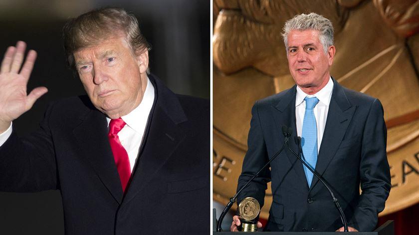 "Trump lamenta morte ""chocante"" de Bourdain"