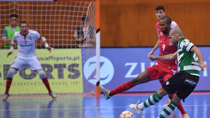 Braga em duelo com o Sporting. Foto: Hugo Delgado/Lusa