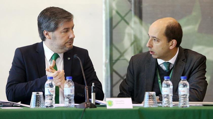 Bruno de Carvalho e Carlos Vieira pretendem candidatar-se à presidência do Sporting. Foto: Sporting CP