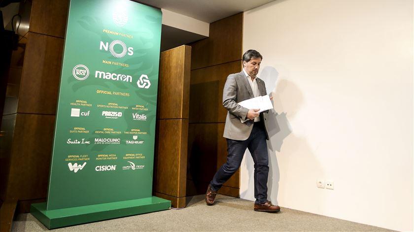 Bruno de Carvalho foi representado por um mandatário em Alvalade. Foto: Nuno Fox/Lusa