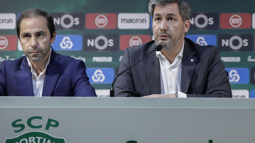 Bruno de Carvalho anuncioi que não se demite. Foto: António Cotrim/Lusa