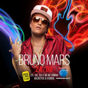 ​Bruno Mars confirmado no Rock in Rio-Lisboa 2018