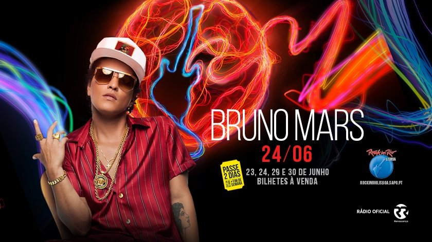 Rock In Rio Lisboa anuncia show do Bruno Mars
