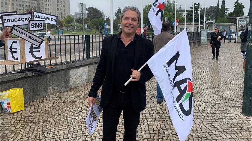 Gil Garcia, líder do MAS. Foto: Ana Carrilho/RR