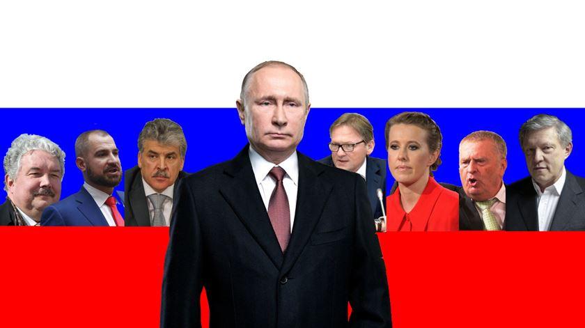Os candidatos que enfrentam Putin nas eleições russas (e porque é que não vão ganhar)