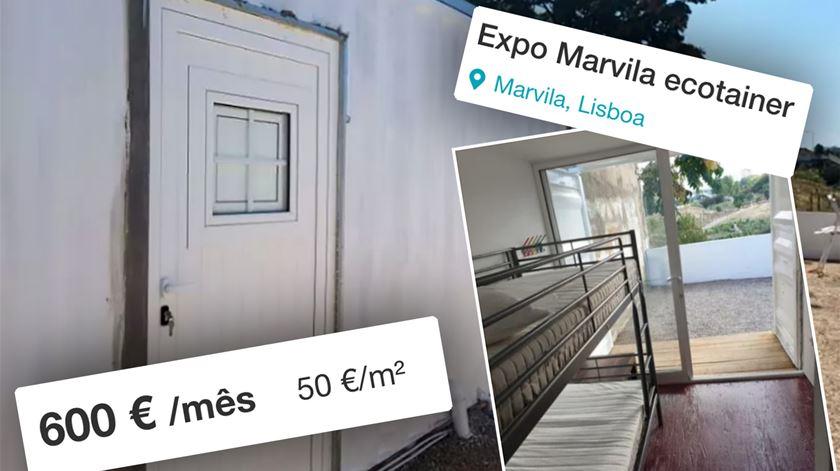 Há contentores para habitação em Lisboa por 600 euros/mês. Câmara diz que é tudo ilegal