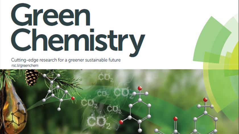 """A nova molécula é o tema de capa da revista científica """"Green Chemistry""""."""
