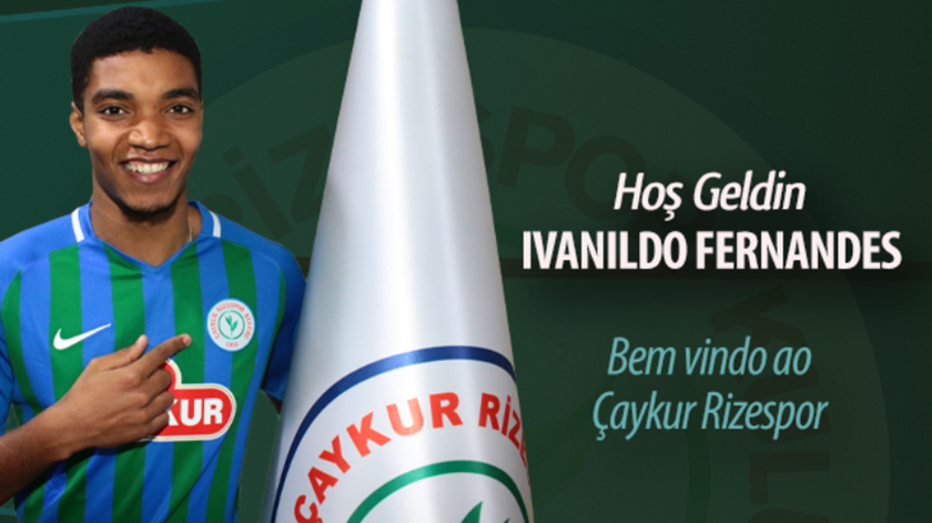 Ivanildo Fernandes cedido ao Rizespor