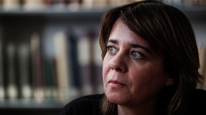 A coordenadora do Bloco de Esquerda, Catarina Martins, durante uma visita à Associação Protetora dos Diabéticos de Portugal, em Lisboa, esta quinta-feira. Foto: Mário Cruz/Lusa