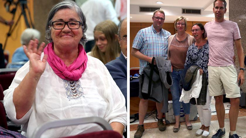 Catarina Passinhas esperou perto de cinco horas para felicitar Medina. Quatro turistas alemães foram parar à festa do PS porque achavam que estavam a seguir adeptos do FC Porto