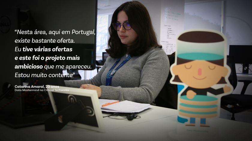 "Catarina Amaral é ""Data Mastermind"" da Critical Techworks. Foto: Marília Freitas/RR"