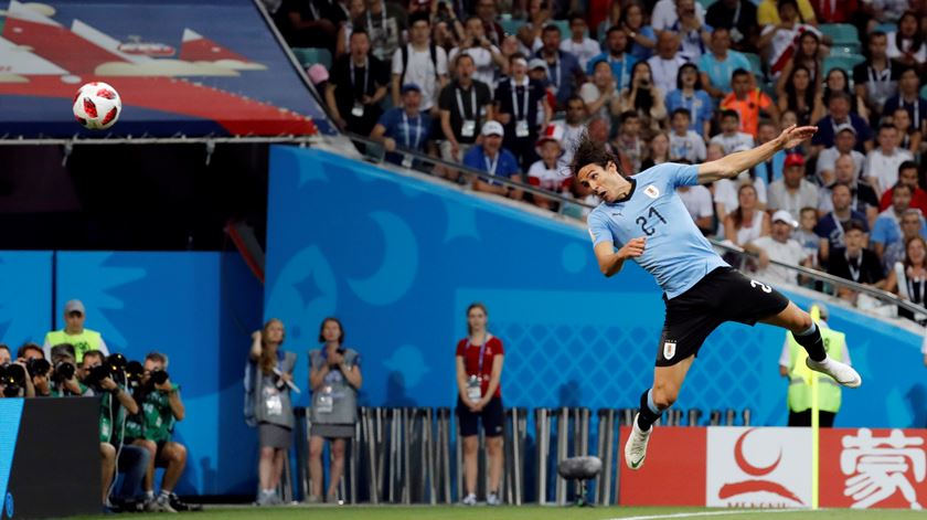 Cavani foi decisivo na partida contra Portugal ao apontar os dois golos da seleção urugaia. Foto: Toru Hanai/Reuters