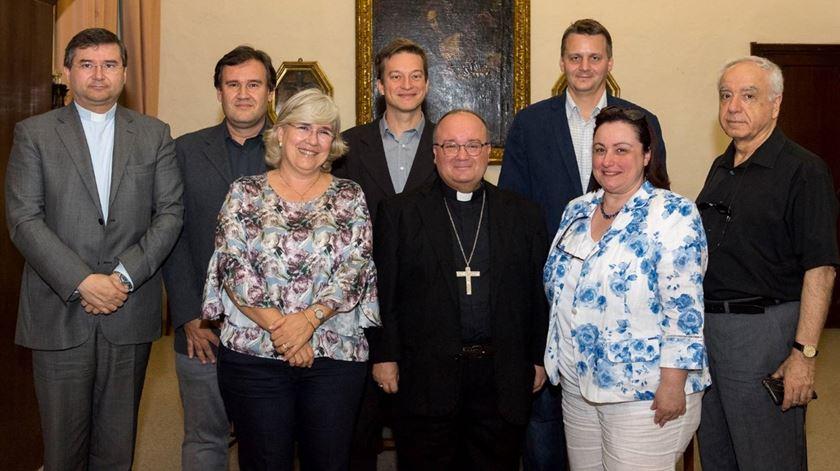 Representantes da CERC com o arcebispo de Malta, Charles Scicluna. Foto: CERC