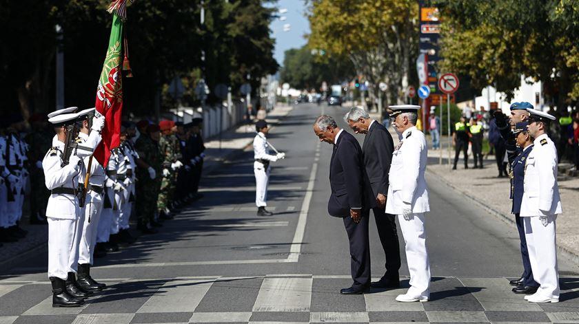Honras militares no funeral de Freitas do Amaral