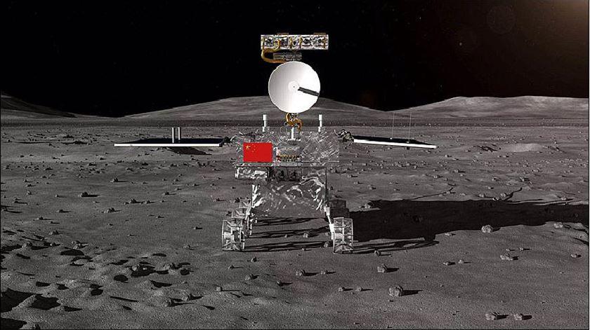A Chang'e-4 deve aterrar no lado oculto da Lua nos primeiros dias de janeiro. Foto: CNSA