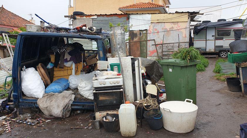 A falta de condições de higiene do acampamento preocupa quem acompanha as necessidades da comunidade Foto: Olímpia Mairos/RR