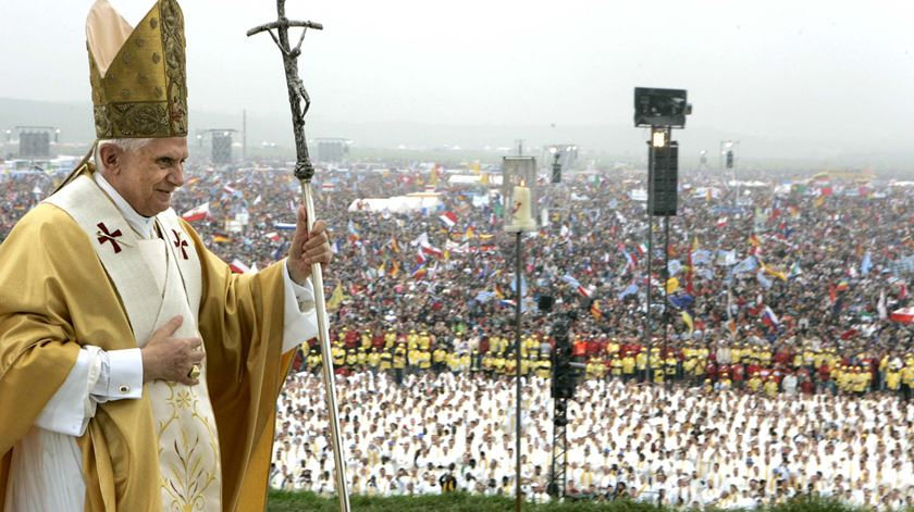 Bento XVI na Jornada Mundial da Juventude de Colónia, em 2005 Foto: Pier Paolo Cito/Reuters