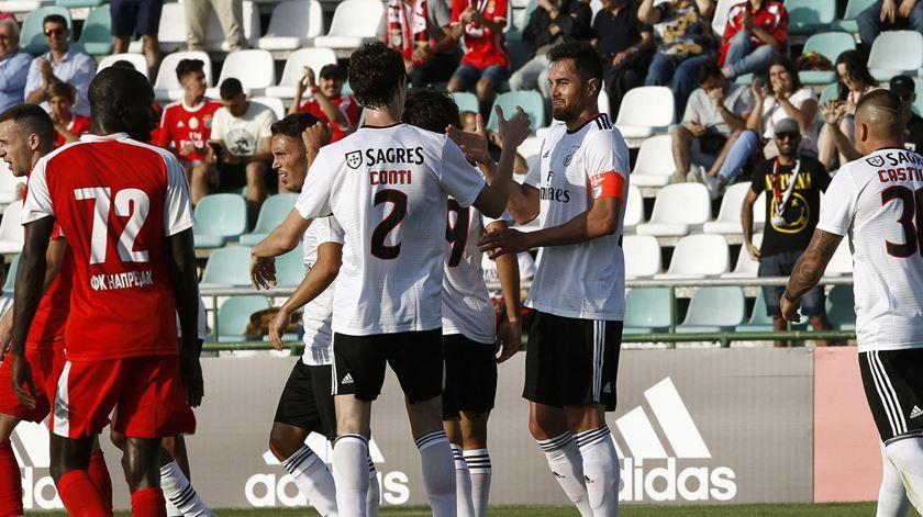 Conti e Jardel já formam dupla vencedora. Foto: SL Benfica