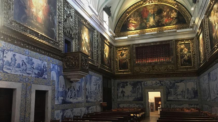 Convento dos Cadaes, igreja com azulejos da oficina holandesa, característica rara nas igrejas de Lisboa. Foto: Liliana Monteiro/RR