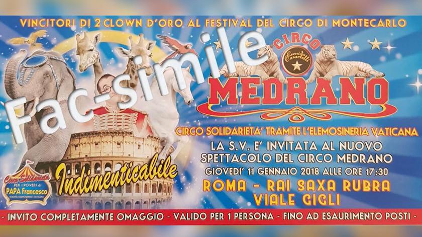 Bilhete para os convidados. Imagem: Vaticano