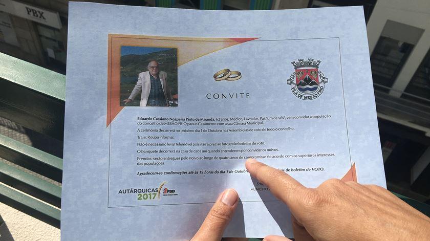 """O """"convite"""" inclui informações sobre o """"traje"""", o """"banquete"""" e as """"prendas"""". Foto: Olímpia Mairos/RR"""