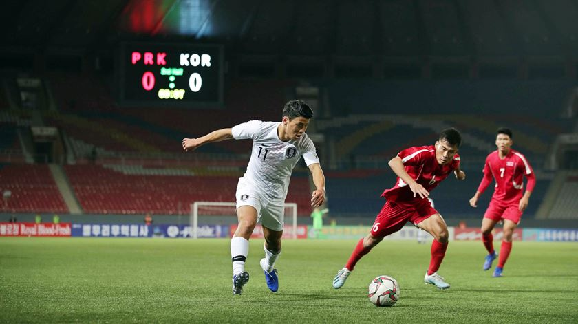 Coreias anulam-se em jogo histórico