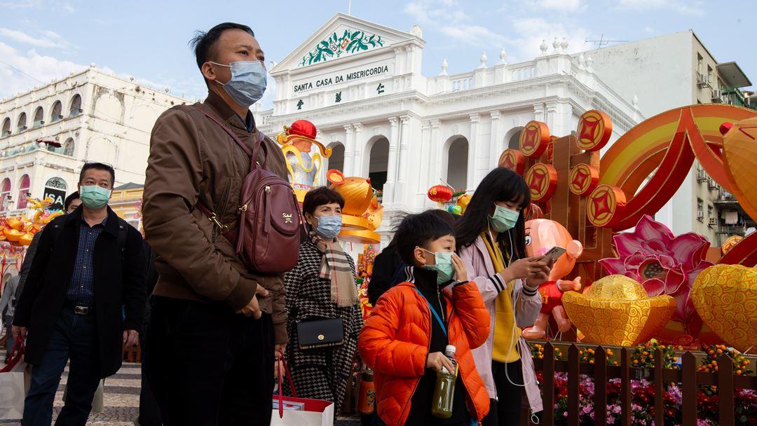 O Corpo de Polícia de Segurança Pública proibiu a realização da vigília, na praça do Leal Senado, que assinala o massacre de Tiananmen. Foto: Carmo Correia/EPA