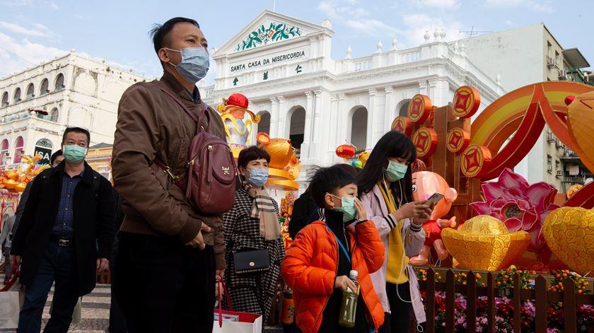 Macau isola-se ao máximo para evitar novos casos de coronavírus. Foto: Carmo Correia/EPA
