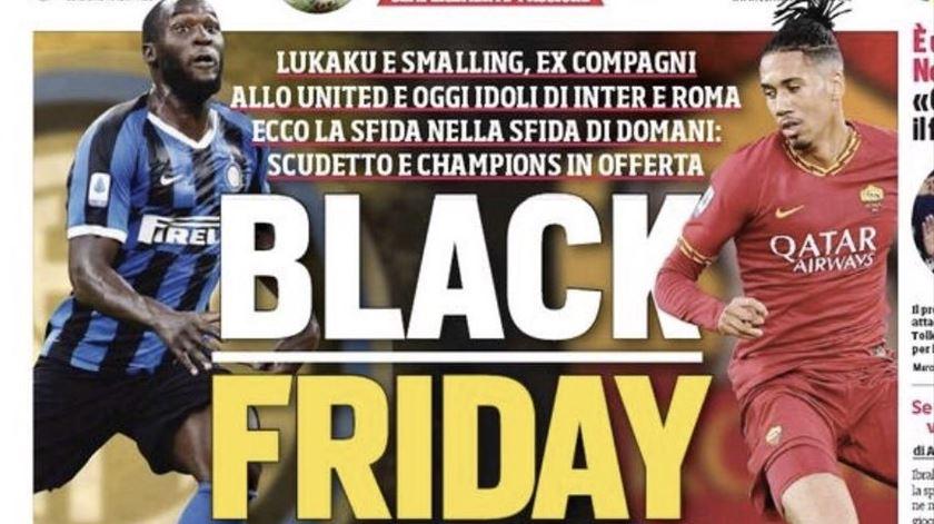 """Smalling e Lukaku reagem a manchete de jornal italiano. """"Burra"""" e """"altamente insensível"""""""