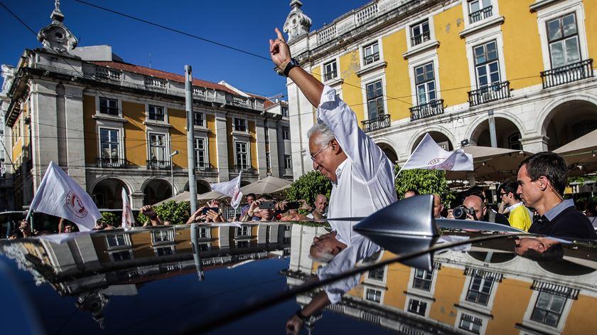 António Costa no último dia da campanha para as legislativas 2019, em Lisboa. Foto: EPA/Mário Cruz