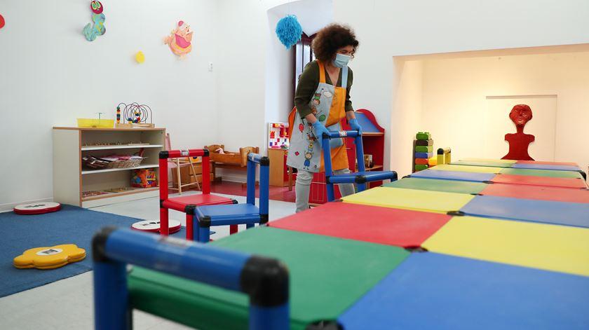 Há creches onde não apareceu qualquer criança. Foto: José Sena Goulão/Lusa