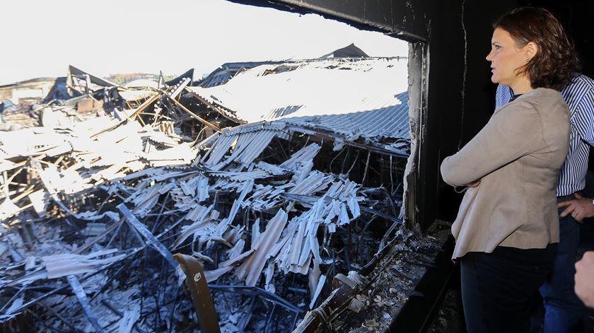 Assunção Cristas visitou a região atingida pelos incêndios em 2017. Foto: António José/Lusa