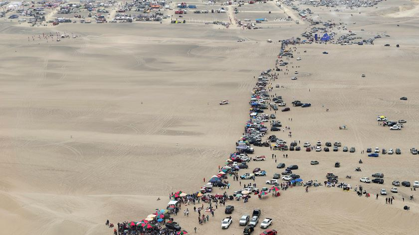 Dakar deixa a América do Sul. Foto: Ernesto Farias/EPA