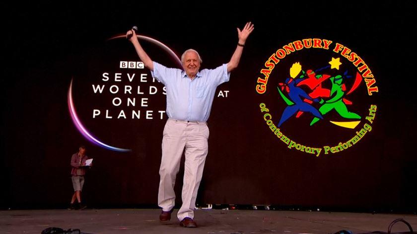 David Attenborough passou por Glastonbury e deixou um agradecimento