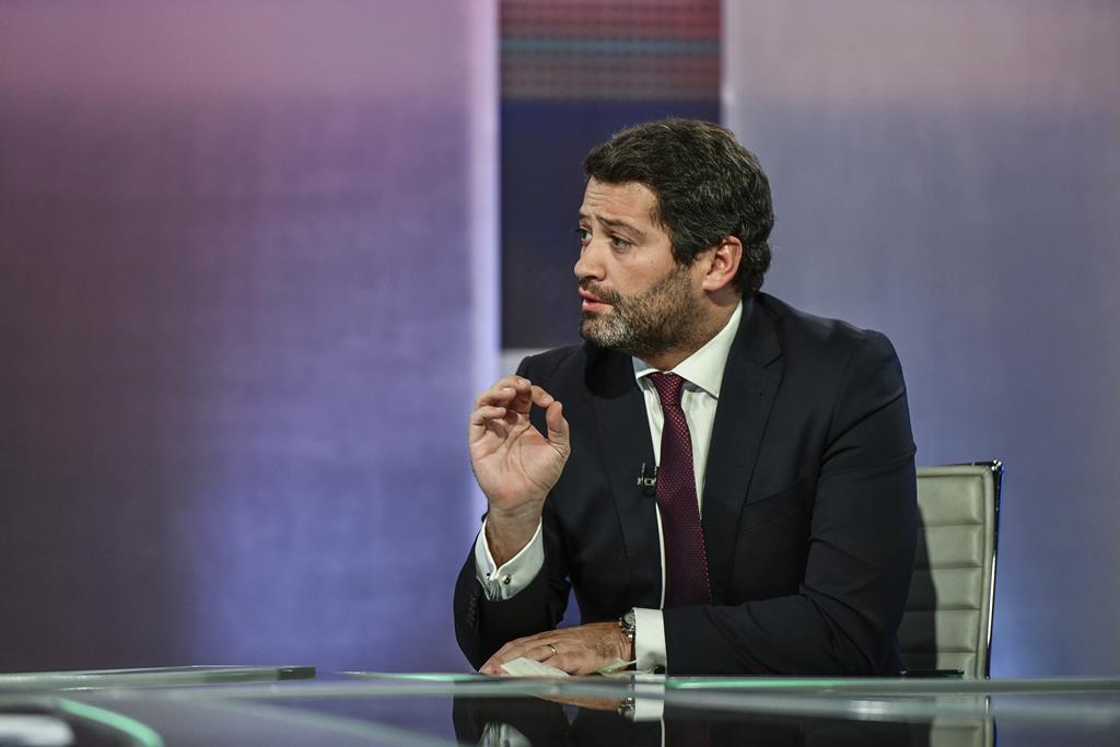André Ventura começa a sua campanha, este domingo, em Serpa. Foto: RTP