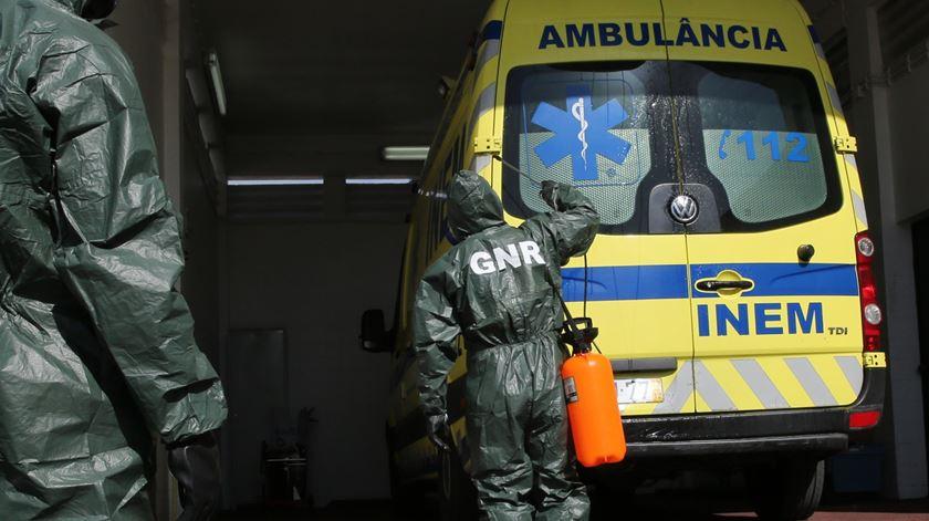 GNR deixou de desinfetar ambulâncias a pedido do INEM