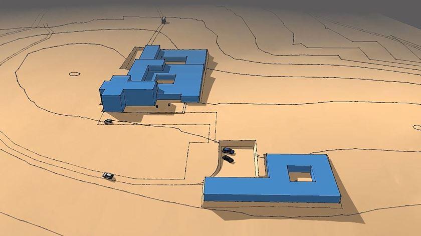 Desenho do futuro mosteiro. Foto: DR