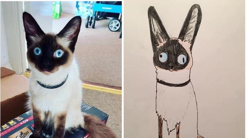 Este gato chama-se Mike Sinatra. Foto: Facebook/Pet Portraits by Hercule